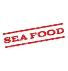 Sea food watermark stamp vector