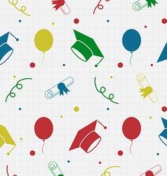 Seamless Graduation Celebration Pattern Background vector