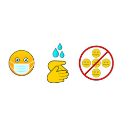 set icons for prevention infection vector image