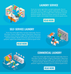 set of laundry horizontal banners vector image