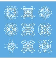 Set of monogram ornate mandalas Elegant circular vector