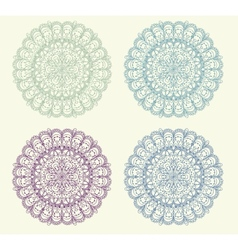 Set of vintage ornament background vector image