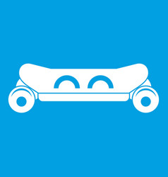 Skateboard deck icon white vector