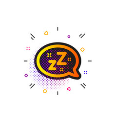 Sleep icon zzz speech bubble sign chat message vector