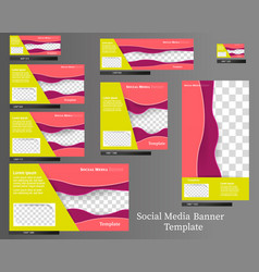 social media banner template pack vector image