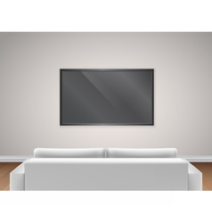 Sofa and TV back view vector