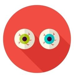 Spooky Eyeballs Circle Icon vector image