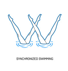 Sport synchronized swimming vector