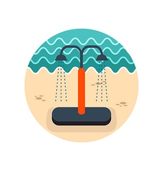 Summer beach pool shower icon Summer Vacation vector