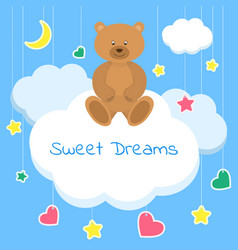 Sweet dreams colorful sleep vector