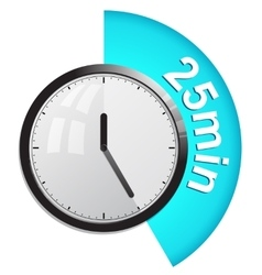 Timer 25 minutes vector