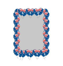 Uk flag frame or border vector