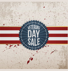 Veterans day sale holiday label vector