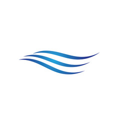 water wave symbol and icon logo template vector image