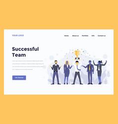 web design flat modern concept - successful team vector image