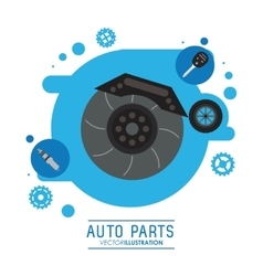 Wheel icon Auto part design graphic vector image