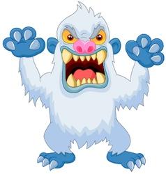 Angry cartoon yeti vector image