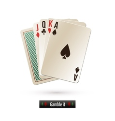 Game card isolated vector image