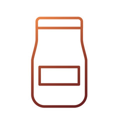 glass jar with sauce product restaurant kitchen vector image
