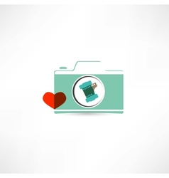 love photography icon vector image vector image