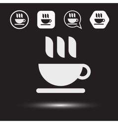 Mug of tea icon Morning coffee logo vector image vector image