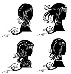 Set of women hair ornaments vector image vector image