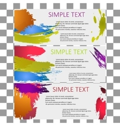 bright set of banners modern universal vector image