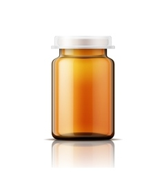 Glass bottle for pills vector image vector image
