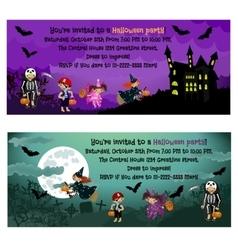Halloween invitations vector image vector image