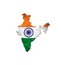 India flag map vector image