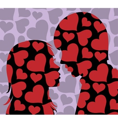 young man and woman vector image vector image
