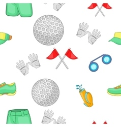 Game of golf pattern cartoon style vector image vector image