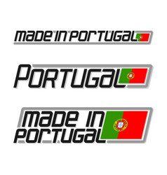 made in portugal vector image vector image