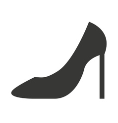 high heel shoes isolated icon design vector image