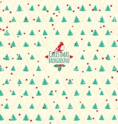 Merry Christmas festive background Christmas tree vector image