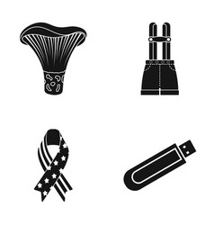 Mushroom shorts with suspenders and other web vector