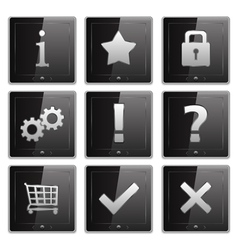 Tablet PCs with Icons vector image vector image
