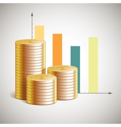 theme of business with cents vector image vector image