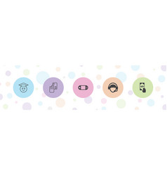 5 online icons vector