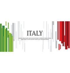 Abstract italian flag abstract banner second of vector