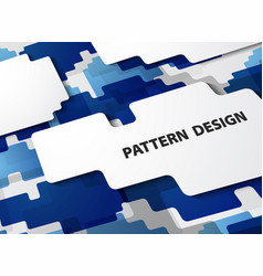abstract modern pattern of gradient blue vector image