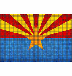 abstract mosaic flag of arizona vector image