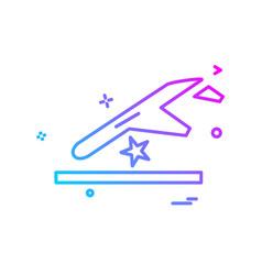 accident icon design vector image