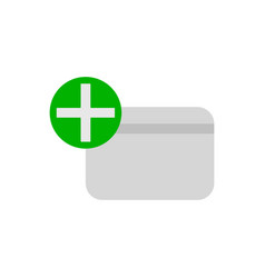 Add new credit card flat icon vector