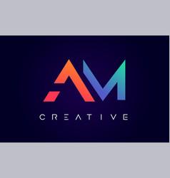 Am logo letter design with modern creative vector