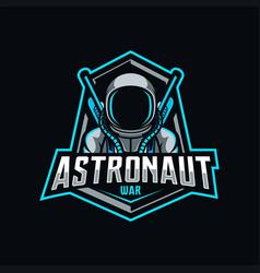 Astronaut mascot logo esport vector