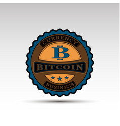 badge with bitcoin symbol vector image