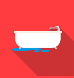 bathtub icon in flat style isolated on white vector image