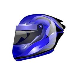 blue helmet vector image
