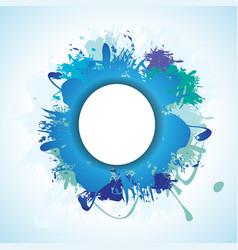 Blue splash vector